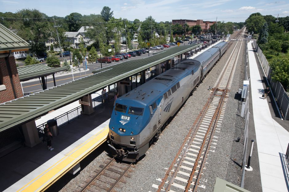 Saturday during the opening weekend of the CT Rail Hartford Line in Wallingford June 16, 2018 | Justin Weekes / Special to the Record-Journal