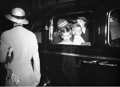 Prince Edward of Kent and Princess Alexandra, the Duke and Duchess of Kent's two children, have been staying with their grandmother, Queen Mary at Sandringham , and when the visit came to an end, the two children returned to London. Prince Edward and Princess Alexandra, seated in their car, after their arrival at Liverpool Street Station, London, from Sandringham, on August 30, 1938. (AP Photo)