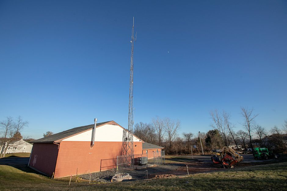 The communication tower at the former Cook Hill firehouse in Wallingford, Mon., Jan. 14, 2018. Dave Zajac, Record-Journal