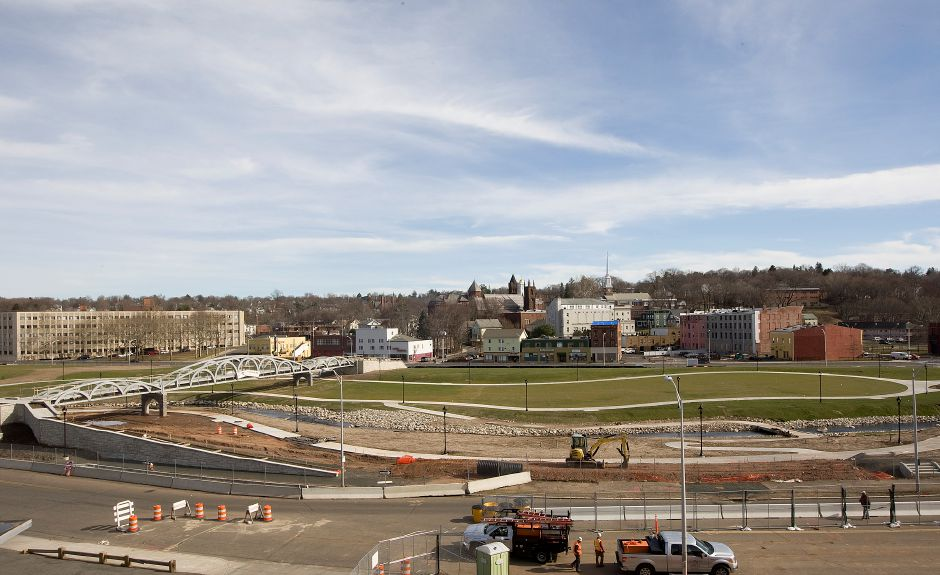The 14-acre Meriden Hub park, Friday, March 11, 2016. Two new positions outlined in City Manager Lawrence J. Kendzior's proposed budget would serve as