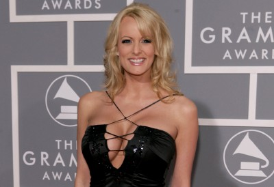 FILE - In this Feb. 11, 2007, file photo, Stormy Daniels arrives for the 49th Annual Grammy Awards in Los Angeles. President Donald Trump