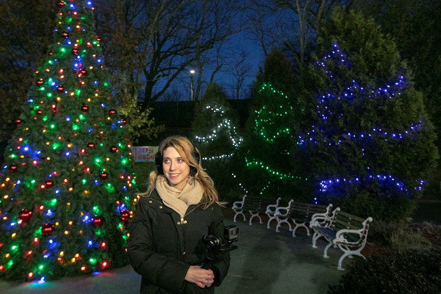 Record-Journal Digital Content Producer Ashley Kus tours the Holiday Lights at Lake Compunce in Bristol, Mon., Dec. 10, 2018. Dave Zajac, Record-Journal