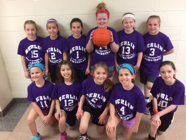 The Warriors, a third and fourth grade girls basketball team, completed a successful season in the Berlin Parks and Recreation program. Playing for the Warriors were, front row: Grace Wood, Jessica Vale da Serra, Grace Buchholz, Samantha Wood, Mya Lamoureux. Back row: Emily Laskowski, Madisen McBride, Samantha Hartan, Kaitlyn Kozlowski, Ava Desmarais, Peyton Nadeau. The team was coached by Christine Vale da Serra and Mike Buchholz.