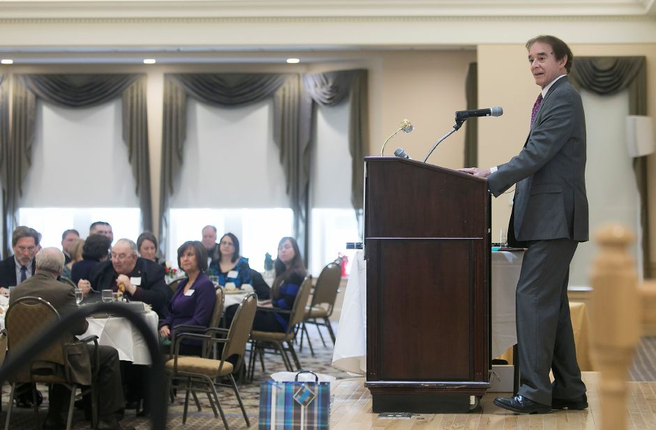 Mayor William W. Dickinson Jr. speaks during the annual State of Town address at Ashlar Village, Friday, January 19, 2018. Dave Zajac / Record-Journal
