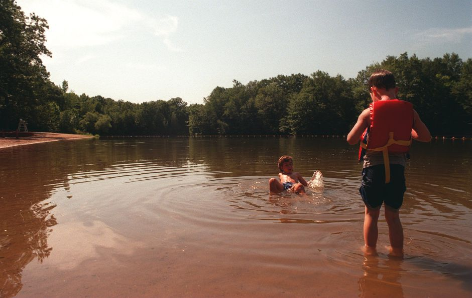RJ file photo - Lim Tommaselli, left, and Nico Masella beat the heat at Wharton Brook State Park, August 1998.