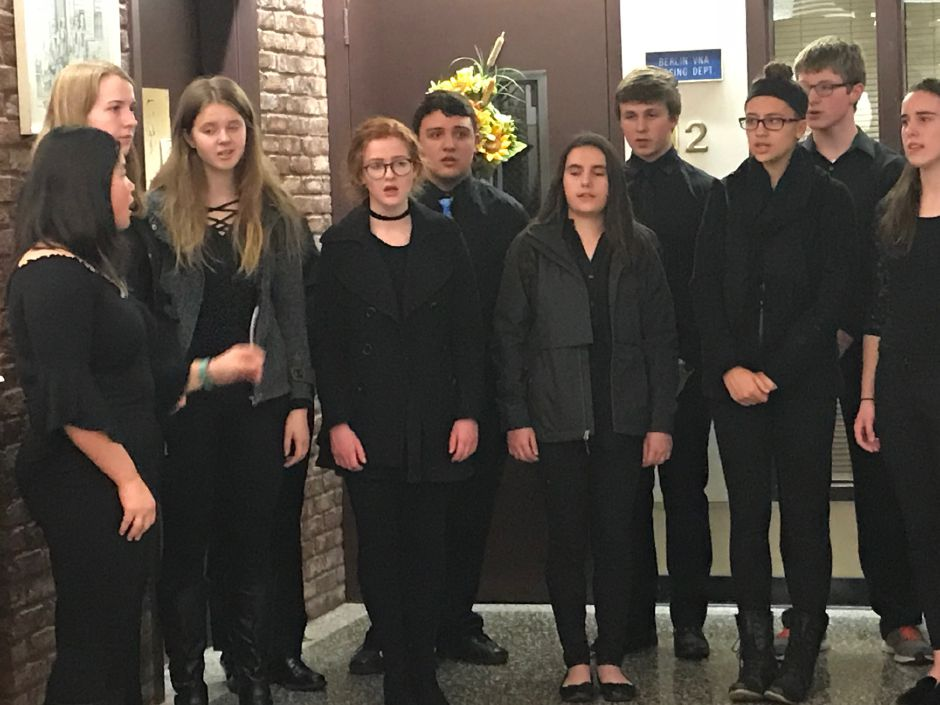 Berlin High School Madrigal Singers at the swearing-in ceremony at Town Hall, Tuesday, Nov.21 |Ashley Kus, The Citizen