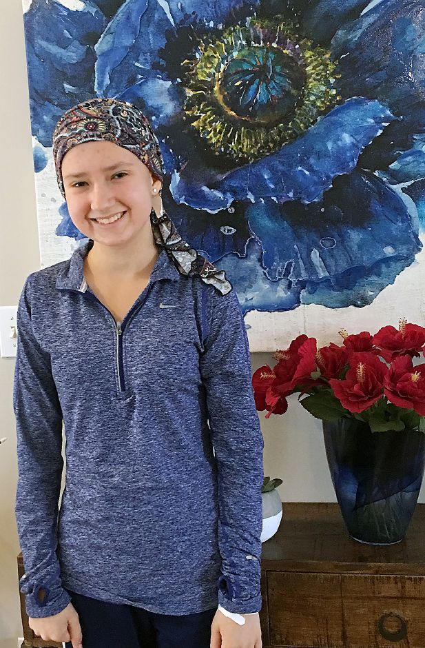Hannah Sous, a Southington High School stuent receiving treatment for leukemia. Students on Southington High School's track and cross country teams are rallying in her support. Courtesy Meghan Sheline