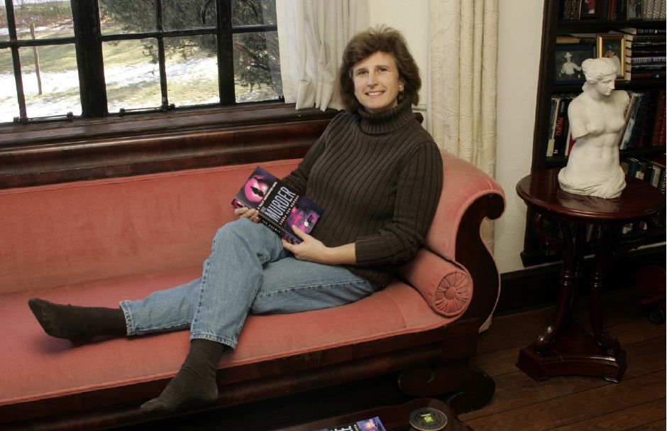 Author Laura Van Wormer moved to Meriden from Manhattan in 1997, and has been a supporter of the city library. Her book Castleford feaetures the fictional town of Castleford, based on Meriden. | Justin Weekes / For the Record-Journal