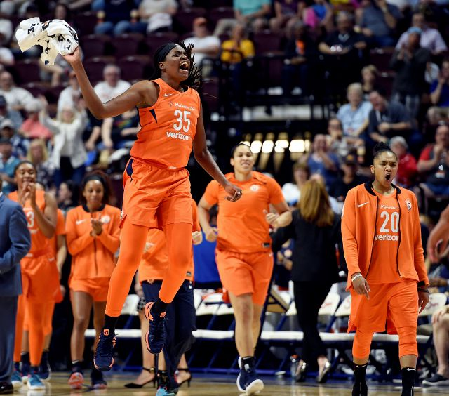 The Connecticut Sun have the best record in the WNBA  at 7-1 and moved into the top spot in The Associated Press power poll Tuesday for the first time. f