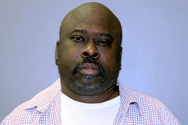 This booking photo released by the Hamden, Conn. Police Department shows Willie McFarland, of New Haven, Conn, arrested and charged with murder in the 1987 killings of Fred Harris and his son Gregory Harris in their Hamden home. McFarland was arraigned Wednesday, Nov. 13, 2019, in Meriden Superior Court and held on $2 million bail. (Hamden Police Department via AP)