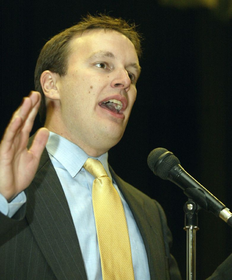 Chris Murphy speaks out during Southington