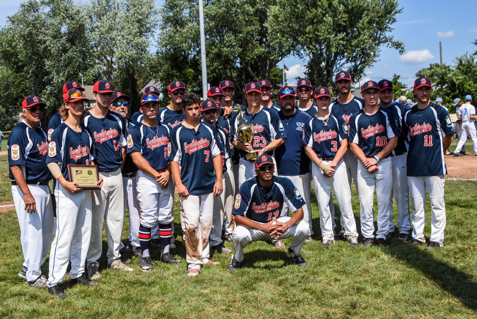 Southington Post 72 poses for a team photo after Saturday