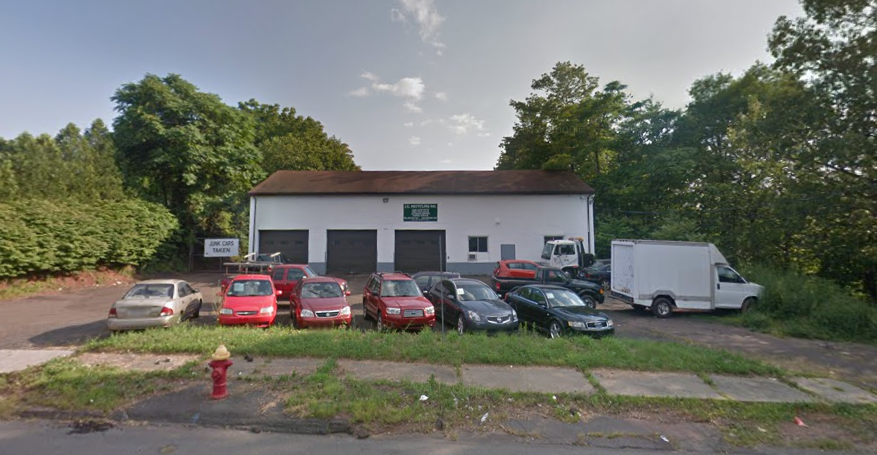 Emergency crews are responding to a structure fire at 45 Hall Avenue in Meriden. | Image courtesy of Google