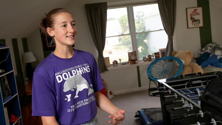 Elena Bielesz, 15, of Wallingford, talks about her upcoming trip to Australia, Fri., July 19, 2019. Eight local students are preparing for a 10-day trip to Australia focused on science, technology and space exploration. Dave Zajac, Record-Journal