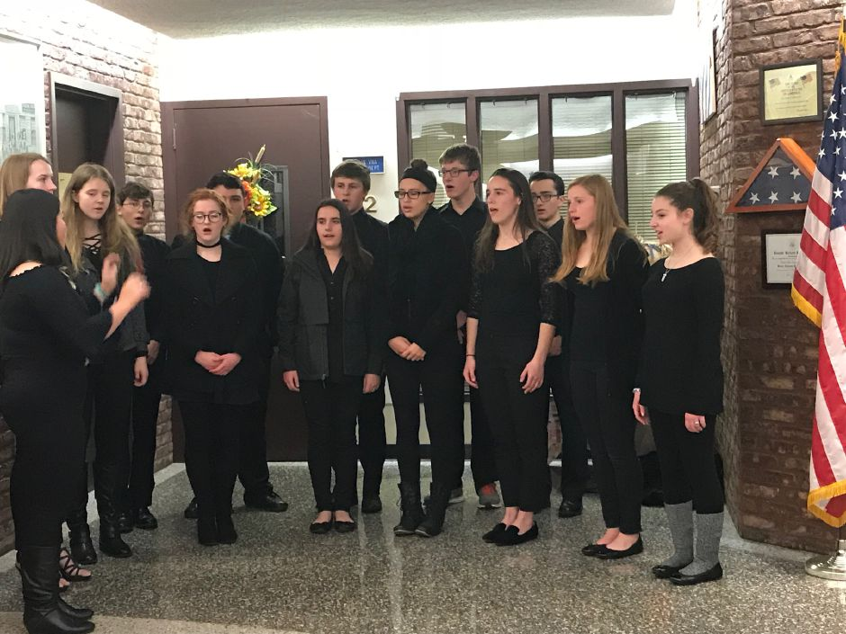 The Berlin High School Madrigal Singers at the swearing-in ceremony at Town Hall, Tuesday, Nov.21 |Ashley Kus, The Citizen