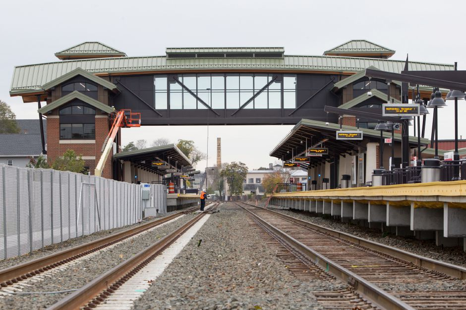 The Wallingford Train Station on North Cherry Street Wednesday in Wallingford November 1, 2017 | Justin Weekes / For the Record-Journal