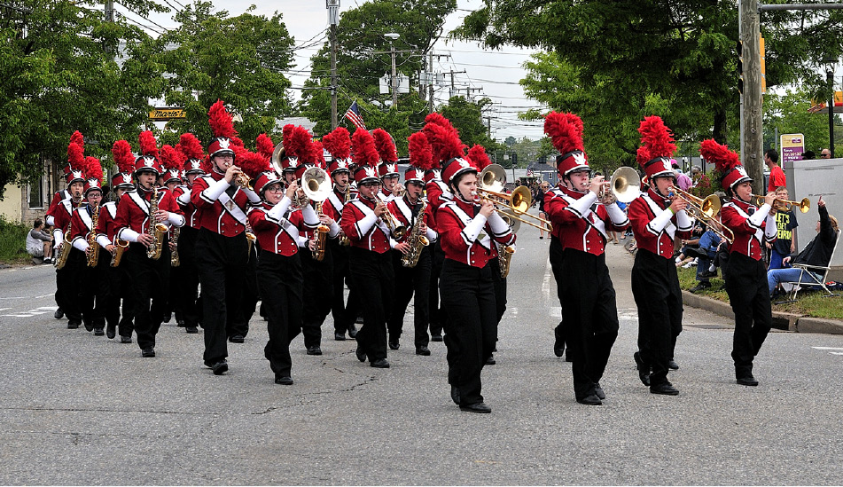 The Berlin Marching Band performs at the 2015 Memorial Day parade.| Lee Roski / For The Citizen