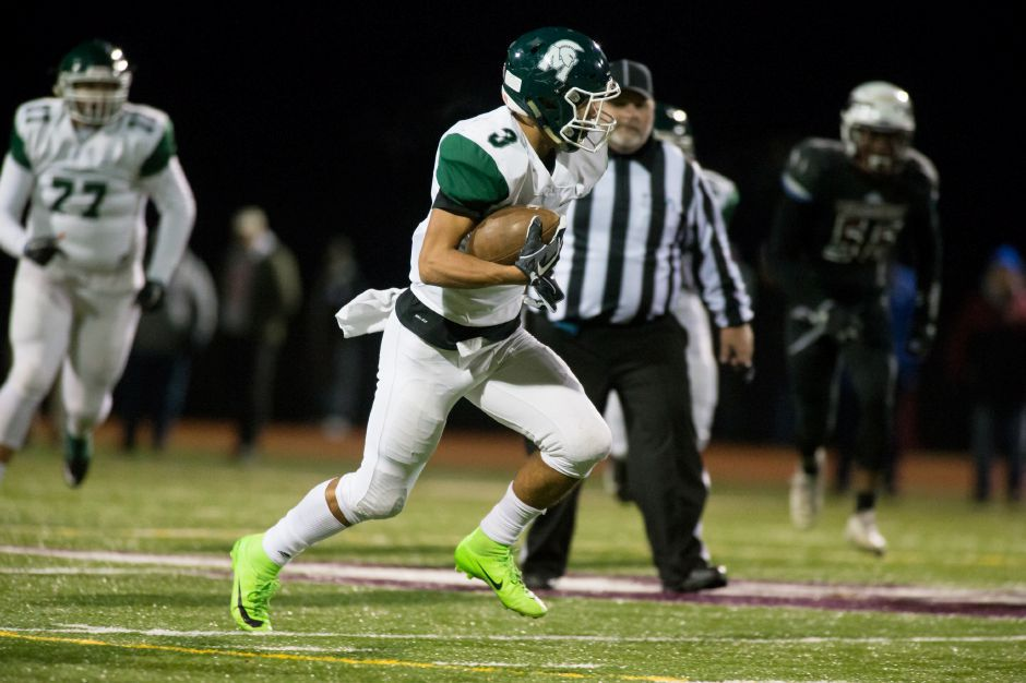 Maloney wide receiver Victor Marquez led the area in receptions (60) and yards receiving (727). Justin Weekes , Special to the Record-Journal