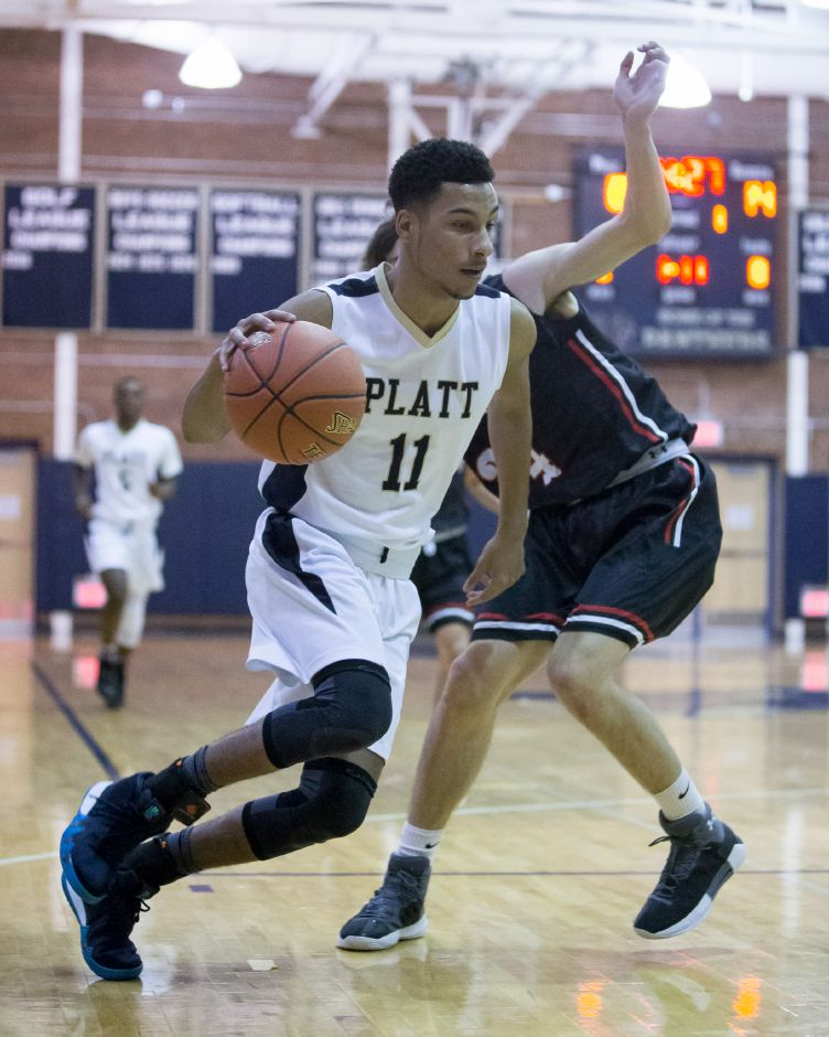 Roemello Leary had a double-double with 22 points and 13 rebounds to lead Platt over Middletown 79-67 on Monday night. | Justin Weekes / Special to the Record-Journal