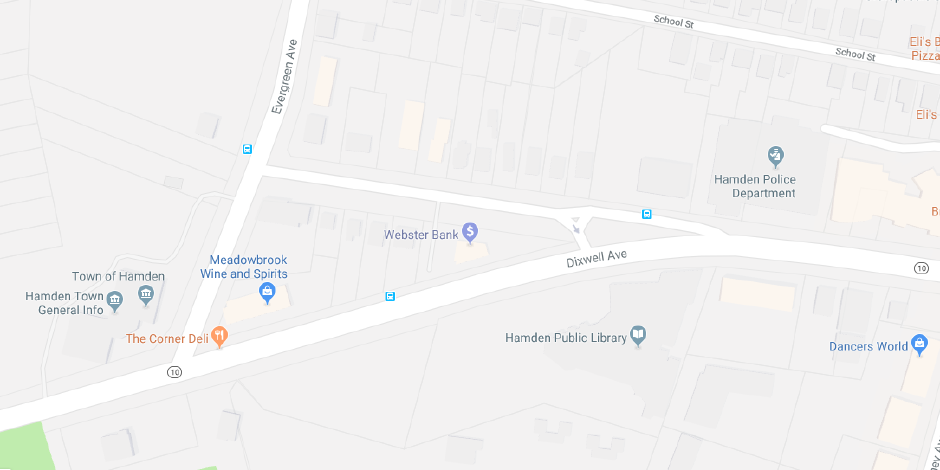 A North Haven woman was fatally struck by a vehicle in the area of the intersection of Dixwell Ave. and Old Dixwell Ave. in Hamden on Friday, July 20, 2018. | Image Courtesy of Google