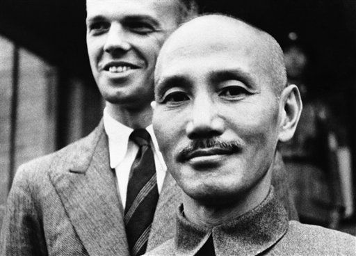 General Chiang Kai-Shek, Chinese Generalissimo has resigned the Chinese Premiership to take over command of the Chinese armies, says a message from Shanghai, China. Chiang Kai-Shek, on Nov. 17, 1937. (AP Photo)