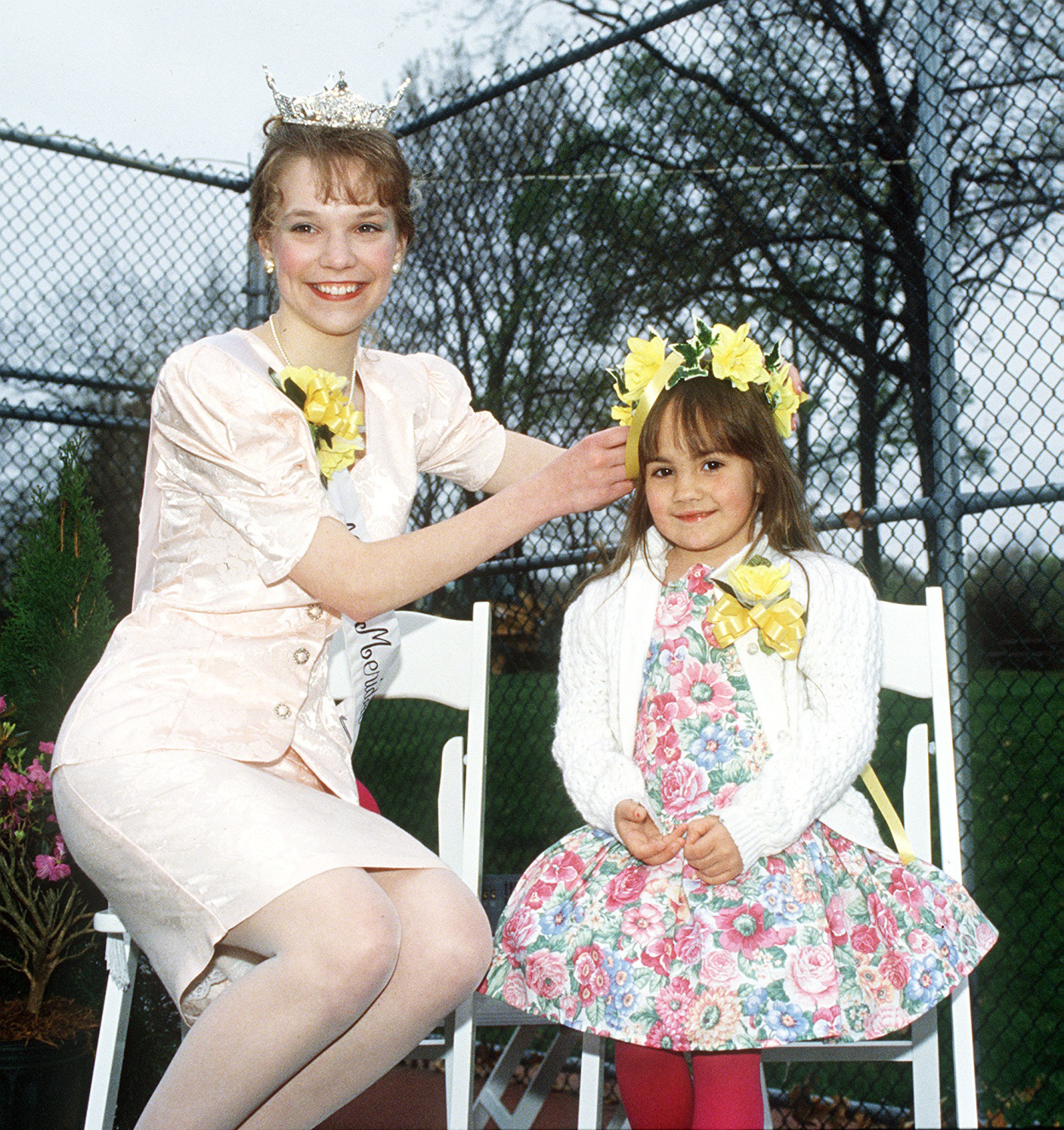 Little Miss Daffodil for 1994 Jennifer Macri is crowned by Miss Meriden Kelly Benoit on April 29, 1994.| File photo, Record-Journal