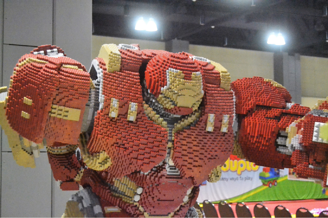 The lifesize Iron Man Hulkbuster at LEGO KidsFest at the Connecticut Convention Center in Hartford on Dec. 2, 2016. | Pete Paguaga, Record-Journal