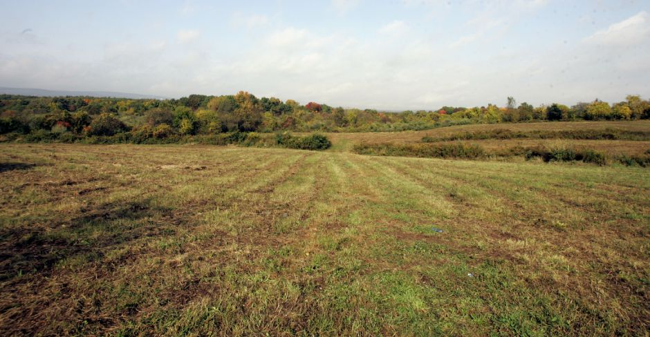 These cleared fields off Flanders Road lead to the new system of trails blazed by members of the Open Space Committee through the former Novick Orchard property that the Town of Southington purchased, Thurs., Oct. 12.