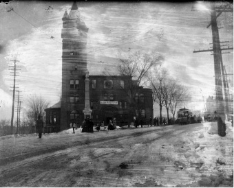File photo - Day of the Meriden Town Hall fire Feb. 14, 1904.