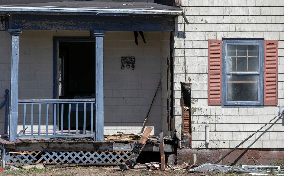 Damage to the first floor after a fire at 764 Marion Ave. in Southington, Monday, April 1, 2019. Dave Zajac, Record-Journal