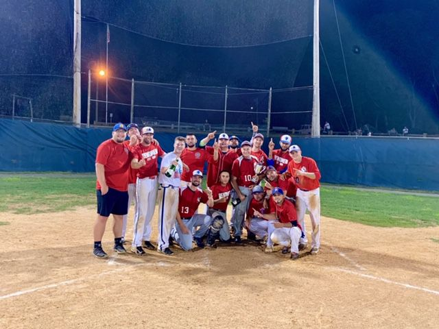 Total Renovations earned its fourth Wallingford Twilight League championship in the past five years and 13th overall with Tuesday night's 9-3 win over Diamondzone at Pat Wall Field. | Ryan Conchado / Special to the Record-Journal