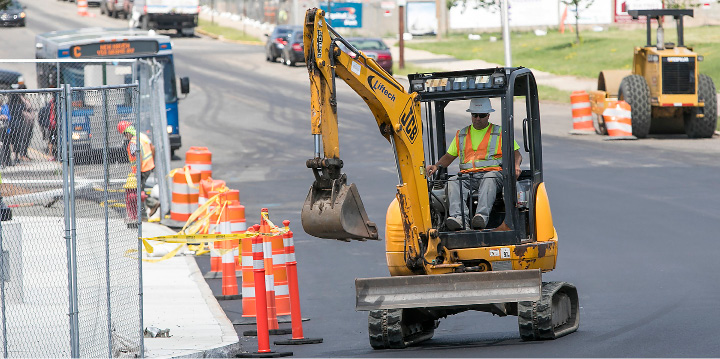 Work continues along State Street next to the  Meriden Train Station, Wednesday, July 5, 2017. | Dave Zajac, Record-Journal