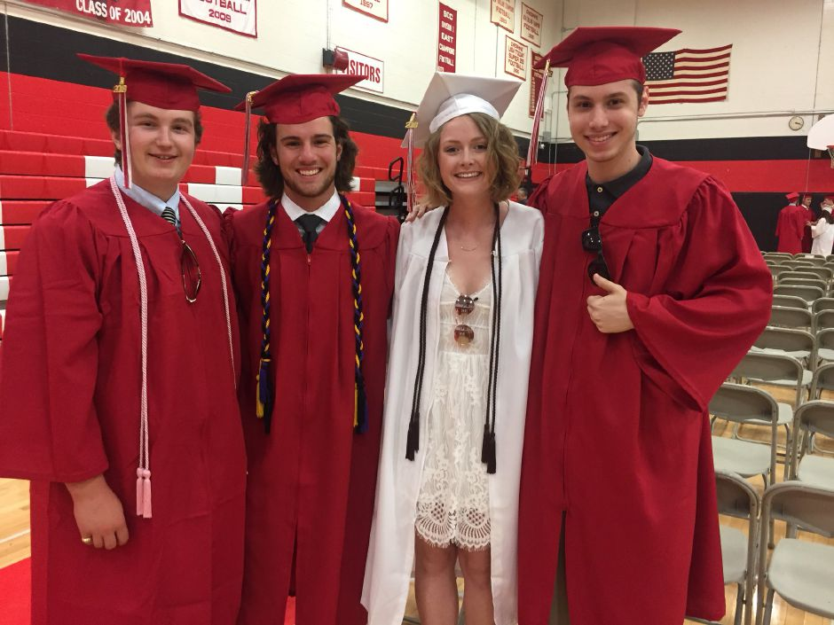 Cheshire High School students before graduation. | Bailey Wright, Record-Journal