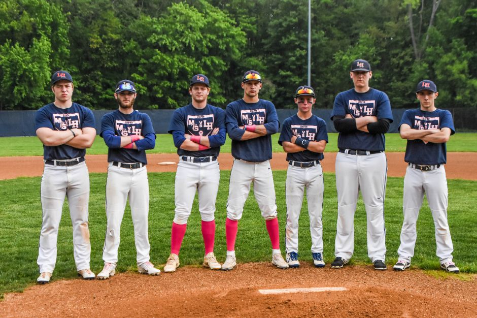 It was Senoir Night at Pat Wall Field for Lyman Hall seniors Griffin Formanski, Zach Kizer, Jake Ranney, Matt Battiste, Joe DiCrosta, Brennan Toussaint, Anthony Cretella and Joe Chasse. | Jim McGovern, Special to the Record-Journal