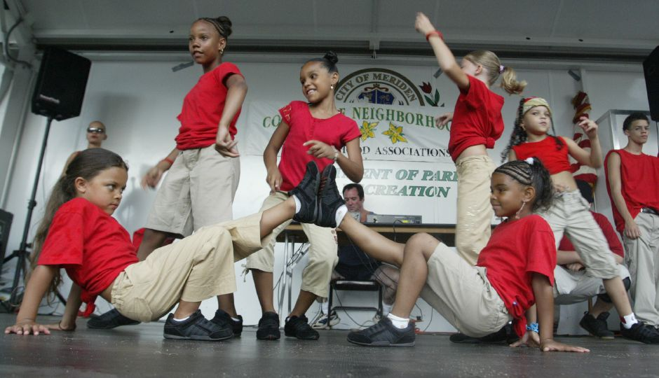 The2 Hot 2 Handle dance group performed some hip hop dances for the crowd in City Park at the National Night Out event on August 1, 2006. The group practices at the Beat the Street Community Center.