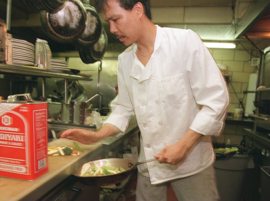 RJ file photo - Mark Robinson, head chef at the Cabin Restaurant in Meriden, May 1999.