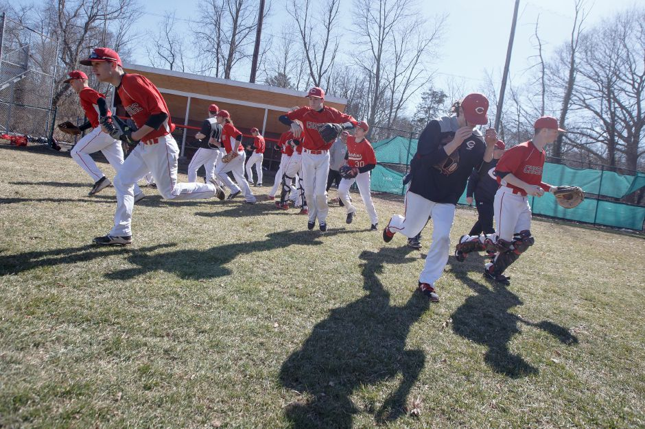 The Cheshire baseball team improved to 4-1 with Friday's 4-2 victory in Branford. Ben Shadeck improved to 2-0 on the hill. | Justin Weekes / Special to the Record-Journal