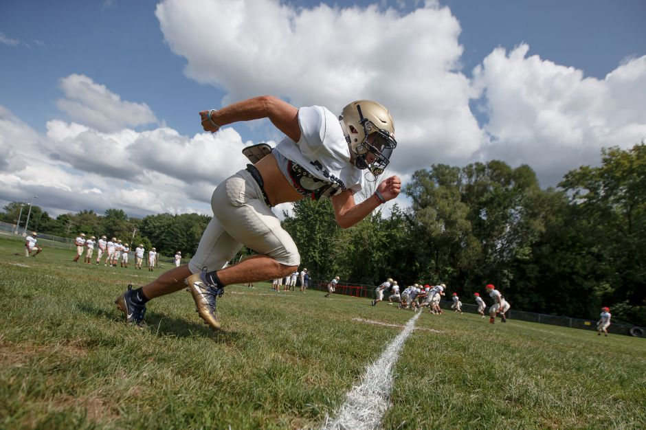 Jake Baker is a returning starter at wide receiver and defensive back. He's also one of Platt's three senior captains. | Justin Weekes / Special to the Record-Journal