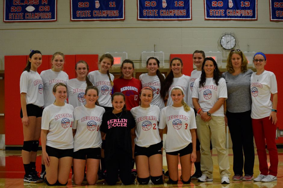 The BHS volleyball team is pictured with Robyn Cop, Tyler Cop's mother, and his sister Rylee Cop.