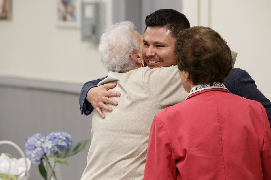 Sunday during a farewell reception for Father Castro at Most Holy Trinity Church in Wallingford, August 19, 2018 | Justin Weekes / Special to the Record-Journal