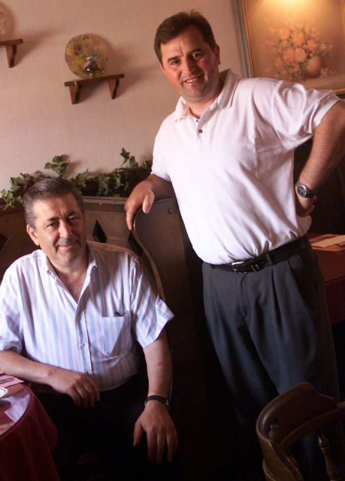 George Kavadas, left, and Mario Beskovic at Giovanni