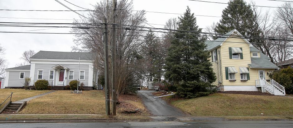 19th-century homes at 60 Broad St., left, and 66 Broad St. right, in Meriden, would be razed under a proposal.  A Harwinton developer won Planning Commission approval last week to build a 9,1000-square-foot retail building on the site, but neighbors are opposed to it.  Dave Zajac, Record-Journal