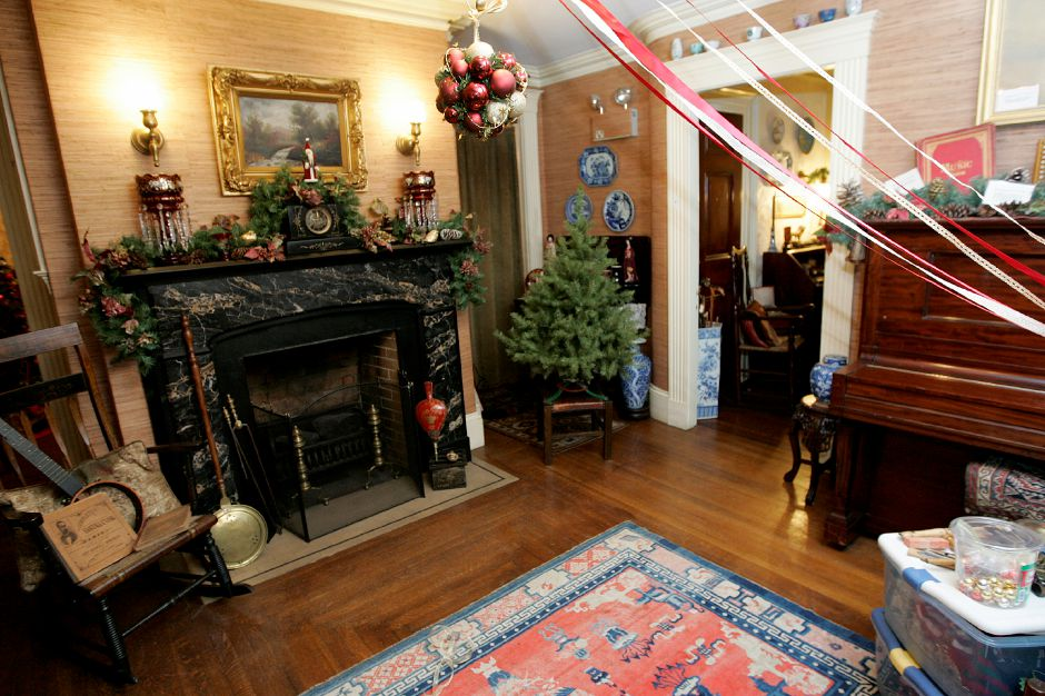 A view of one of the rooms decorated for Christmas at the Barnes Museum. The museum ranks fourth on TripAdvisor.com's list of things to do in Southington.