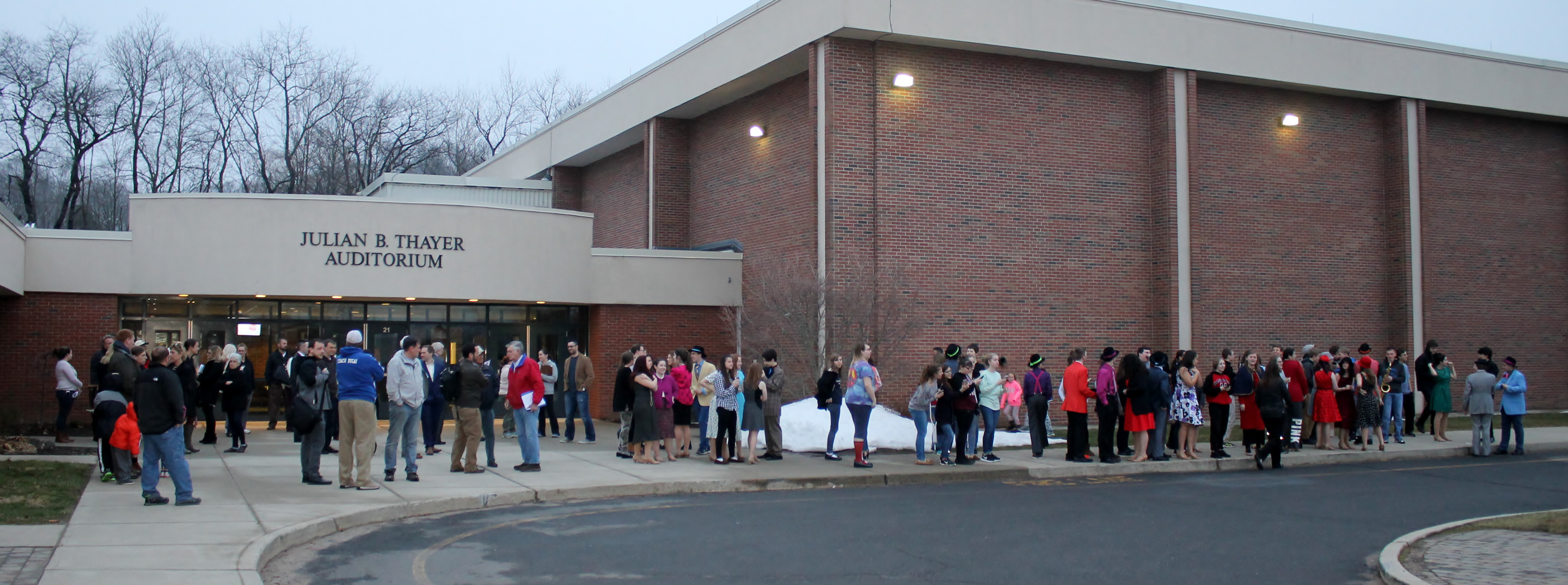 An accidental fire alarm sent participants at the March 27 Board of Education meeting outside, along with the cast of CRHS