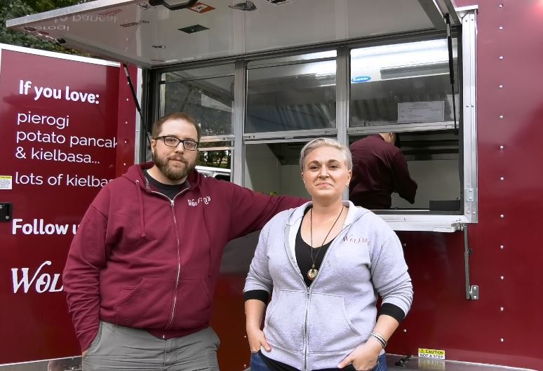 Co-owners Chris Jamilkowski and Jessica Wolfer of Wolfski's food truck, from North Haven. It will be one of an expected 22 trucks at the Hubbard Park Food Truck Festival this weekend.Photos by Ashley Kus, Record-Journal
