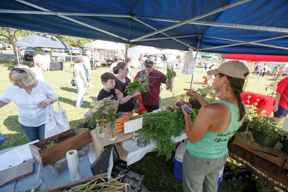 Saturday during opening weekend of the Wallingford Garden Market at Doolittle Park in Wallingford June 30, 2018 | Justin Weekes / Special to the Record-Journal