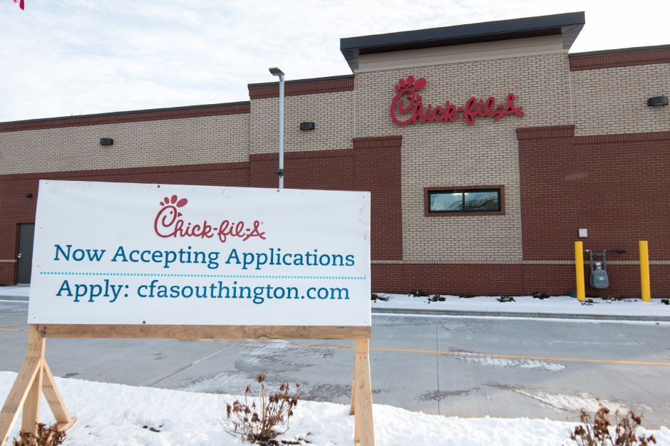 A new Chick-Fil-A will be opening on Queen Street as part of a new plaza being built in Southington. The plaza will also house an Aldi
