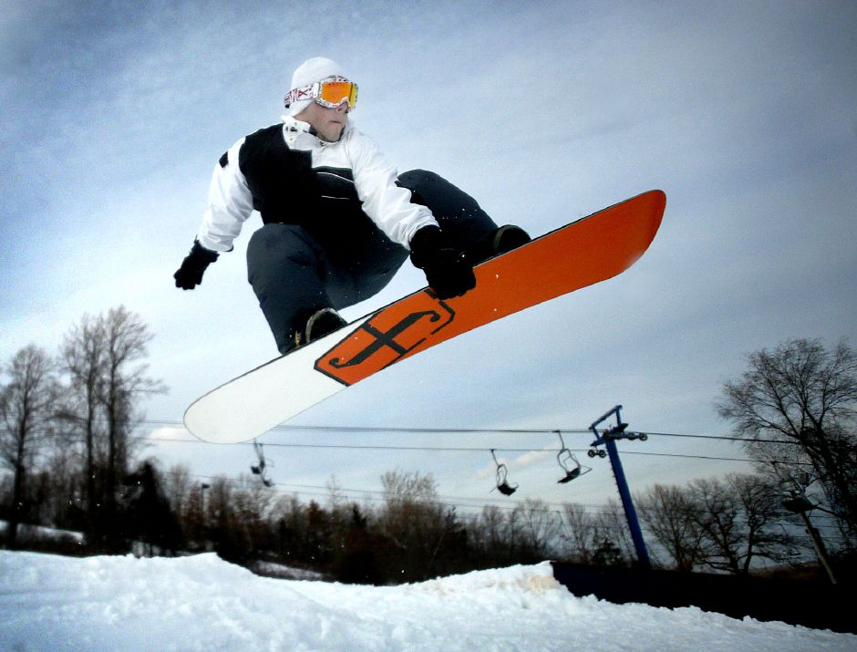 Mount Southington ranks second on TripAdvisor.com's list of things to do in Southington. In this file photo, Nick Negretti, 18, a Wolcott resident jumps a small ramp on Dec. 14, 2007iday afternoon.Record Journal Photo/ Johnathon Henninger