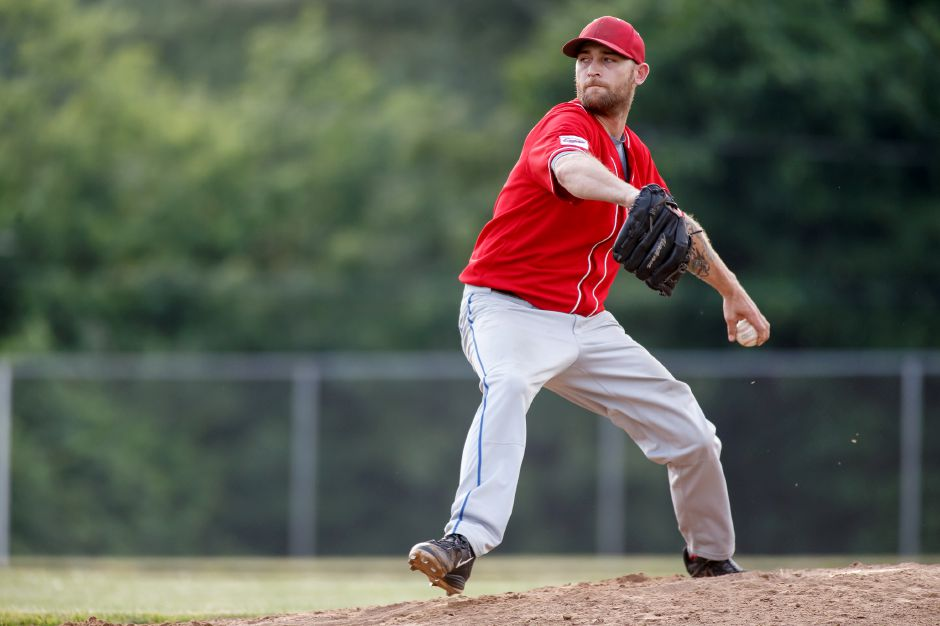 Charlie Hesseltine earned the win in the Record-Journal Expos' 5-1 victory over the South Windsor Phillies on Friday night in South Windsor. | Justin Weekes / Special to the Record-Journal