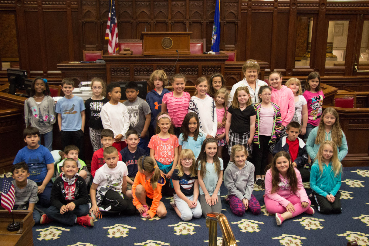 State Rep. Betty Boukus hosted fourth grade students from Louis Toffolon Elementary, Linden Street School and Frank T. Wheeler School earlier this year.